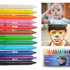 Set Creioane Colorate pentru Pictura pe Fata, 12 Culori