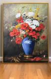Tablou cu Flori de camp,pictura cu flori in vaza, tablouri cu flori de camp