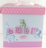 Cutie pentru cadou BABY GIRL AMB3, Roz