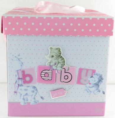 Cutie pentru cadou BABY GIRL AMB3, Roz foto