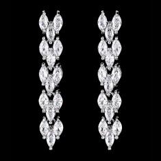 Cercei placati cu Aur 18K si Diamante, Maya Platinum