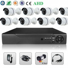 Sistem Supraveghere Video 2MP 8 Camere AHD & DVR Kit Exterior Interior