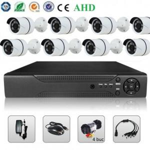 Sistem Supraveghere Video 2MP 8 Camere AHD & DVR Kit Exterior Interior
