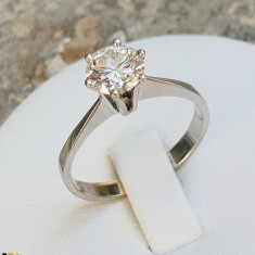 Inel logodna Aur 14k, Diamant cca. 0.99 ct, 2.36 grame