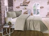 Cumpara ieftin Cuvertură de pat Valentini Bianco din brocard, model Style Gri