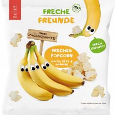 Gustare crocanta popcorn din porumb, orez si banane bio 20g