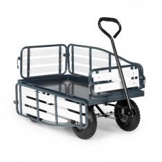 Waldbeck Ventura, cărucior de mână, sarcină maximă 300 kg, oțel, WPC, negru