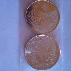 Vand 2 monede 50 bani -2016 Iancu de Hunedoara