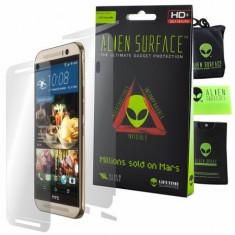 Folie Alien Surface HD, HTC One M9, protectie ecran,spate,laterale+Alien fiber