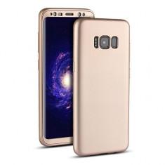 Husa Samsung Galaxy S7 Edge Flippy Full Silicone 360 Auriu, Carcasa