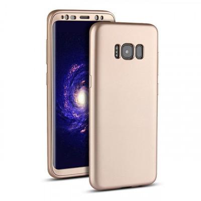 Husa Samsung Galaxy S7 Flippy Full Silicone 360 Auriu foto