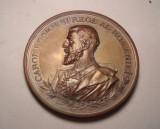 Medalie Regele Carol I Societatea Geografica Romana 1875 1900 Piesa de Colectie