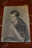 Desen in carbune MAGHERUSAN ,anii 1970,