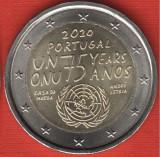 PORTUGALIA moneda 2 euro comemorativa 2020 - ONU, UNC