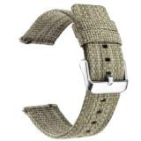 Curea material textil, compatibila cu Huawei Watch GT, Telescoape QR, 22mm, Olive Green