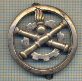 Y 1115 INSIGNA VECHE - MILITARA - ARTILERIE -COINDEROUX PARIS-FRANTA -FARA AC   arhiva Okazii.ro