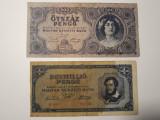 BANCNOTE UNGARIA - 500 PENGO 1945 - 1 MILION PENGO 1945 - LOT DE 2 BUCATI