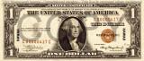 1 dolar 1936 Reproducere Bancnota USD , Dimensiune reala 1:1
