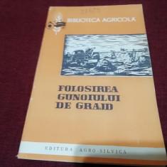 T MOSCALU - FOLOSIREA GUNOIULUI DE GRAJD 1962