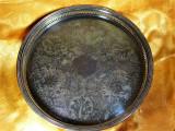 Tava colosala Sheffield 45 cm placata rgint Baroc Victorian vintage