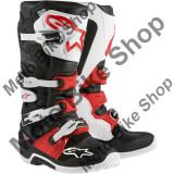 MBS Cizme motocross Alpinestars Tech 7, negru/alb/rosu, 8=42, Cod Produs: 34101341PE
