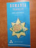 Romania tranzit - harta autoturistica - perioada comunista