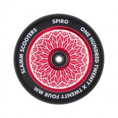 Roata trotineta Slamm 120mm Spiro Hollow Core Red + Abec 9