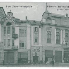 4344 - SATU-MARE, Market, Romania - old postcard - used - 1915, Circulata, Printata
