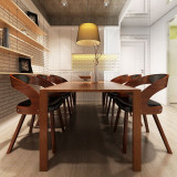 Cumpara ieftin Scaun bucătărie 6 buc, cadru din lemn, piele artificială, maro
