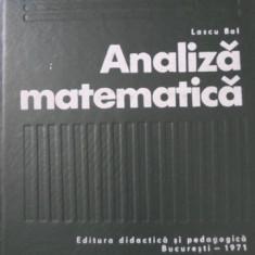 ANALIZA MATEMATICA - LASCU BAL