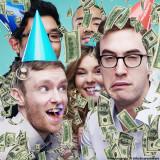Mini tun confetti bani falsi pentru petrecere, 20 cm