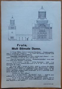Afis solicitare ajutor pentru constructia Bisericii Sf. Nicolae din Sibiu