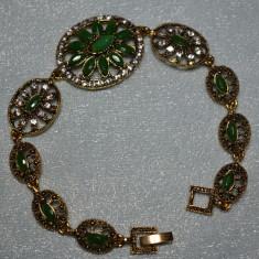 Bratara marcata argint 925 Hurrem TURKISH Gold Filled RUBIN SMARALD TOPAZ 20cm