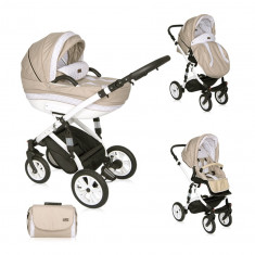 Carucior 3 in 1 Mia Air Light Dark Beige, Lorelli