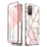 Cumpara ieftin Husa premium compatibila cu Samsung Galaxy S20 FE din silicon moale, design extravagant, i-Blason, roz