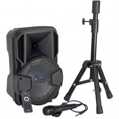 Boxa portabila activa Party 200W, BT/USB/MSD/FM, stativ