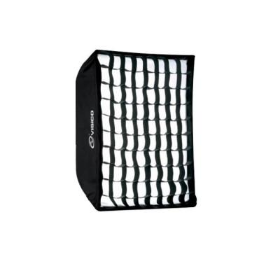 Softbox Visico SB-040 50x130cm cu grid honeycomb montura Bowens foto