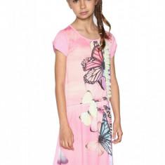 Rochie fete, evazata cu volane  Saltlakecity, Desigual, Marimea 7-8 ani, Roz