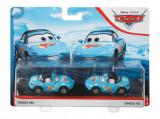 Set 2 masinute metalice Dinoco Mia si Dinoco Tia Cars 3, Mattel