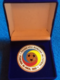 Medalie-placheta fotbal - Federatia de Fotbal din ROMANIA