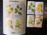 Samoa si Sisifo-Flora-serie completa si bloc-nestampilate, Nestampilat