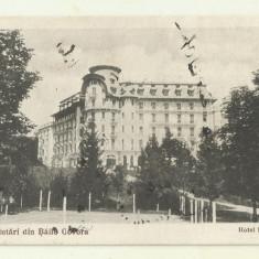 cp Govora : Hotel Palace - circulata 1925, timbre