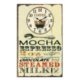 Cumpara ieftin Ceas de perete din sticla ClassGifts Espresso Moccacino 24x40cm Cod Produs 2456