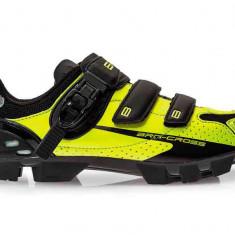 Pantofi Ciclism Brn Cross Fl Mtb Negru Verde Fluo 41