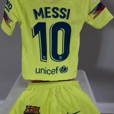 Echipament fotbal pt copii FC.Barcelona Messi model nou marimi mici 1-3 ani, Alta