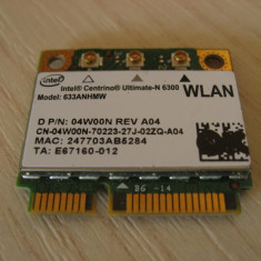 Placa wireless laptop Dell Latitude E6520, Intel Ultimate-N 6300, 633ANHMW