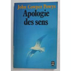 APOLOGIE DES SENS par JOHN COWPER POWYS , 1975