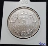 Moneda argint 5 Korona 1900 , Coroane / corona Franz Josef Ungaria, Europa