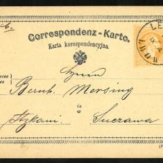1872 Carte Postala Veche BUKOWINA Bucovina LEMBERG Liov SUCZAWA Suceava, Circulata, Fotografie