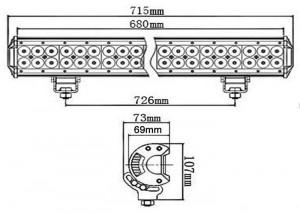 Bara proiectoare LED Auto Offroad 180W/12V-24V, 15300 Lumeni, 28″/72 cm, Combo Beam 12/60 Grade cu Leduri CREE XBD
